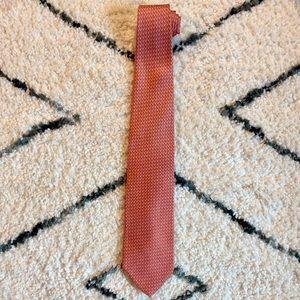 Brooks Brothers 360 Silk Neck Tie, Salmon, Blue